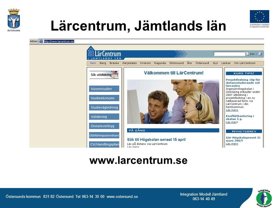 Lärcentrum, Jämtlands län