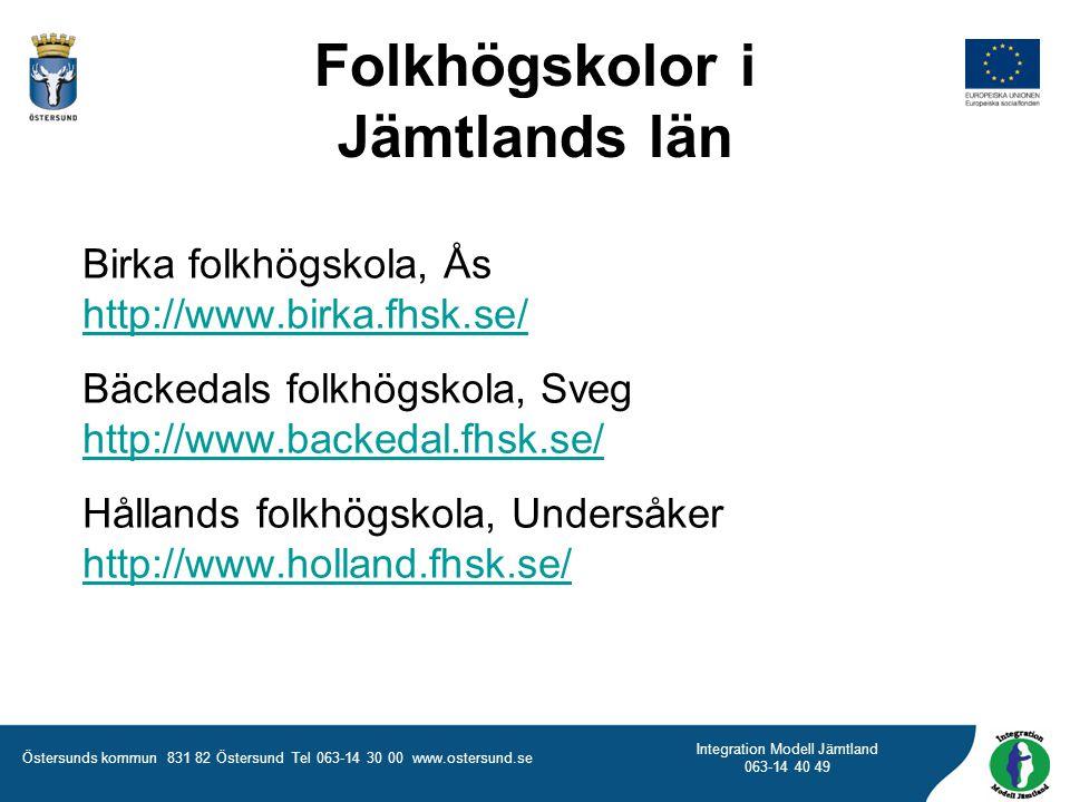 Folkhögskolor i Jämtlands län