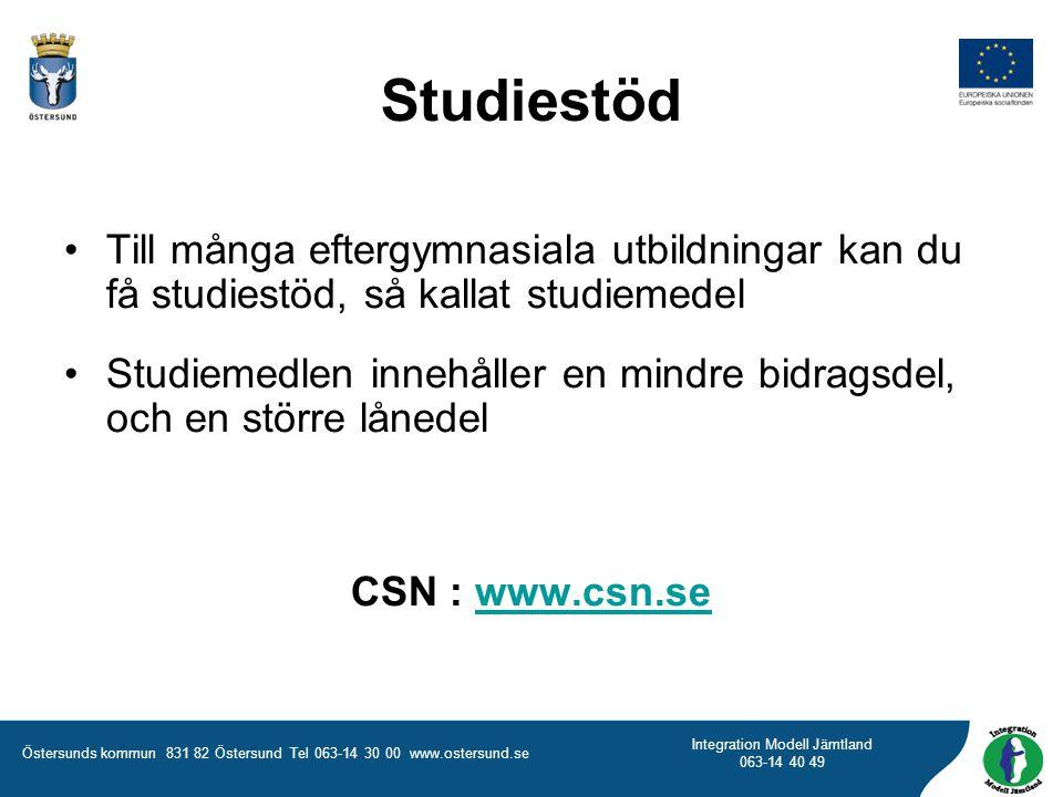 Studiestöd Till många eftergymnasiala utbildningar kan du få studiestöd, så kallat studiemedel.