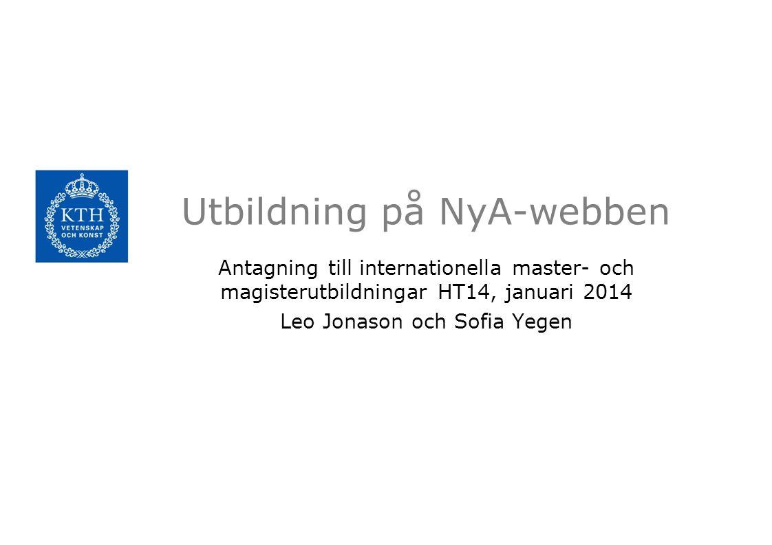 Utbildning på NyA-webben