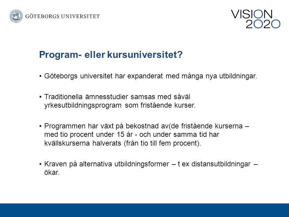 Program- eller kursuniversitet