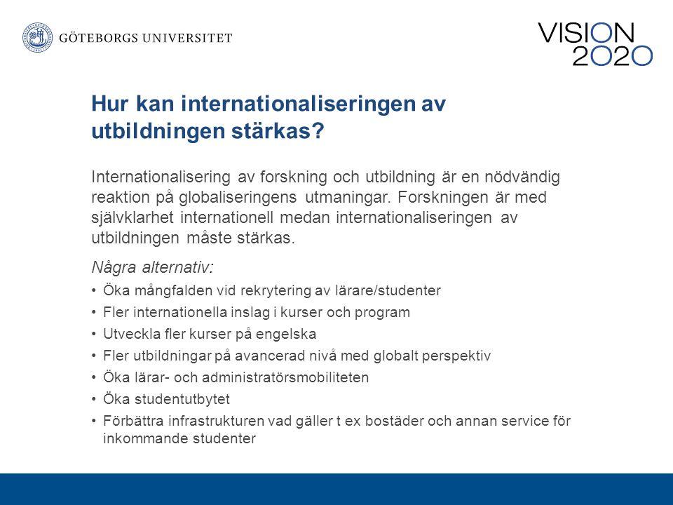 Hur kan internationaliseringen av utbildningen stärkas