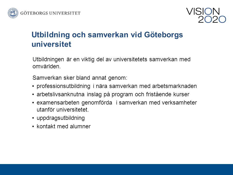 Utbildning och samverkan vid Göteborgs universitet