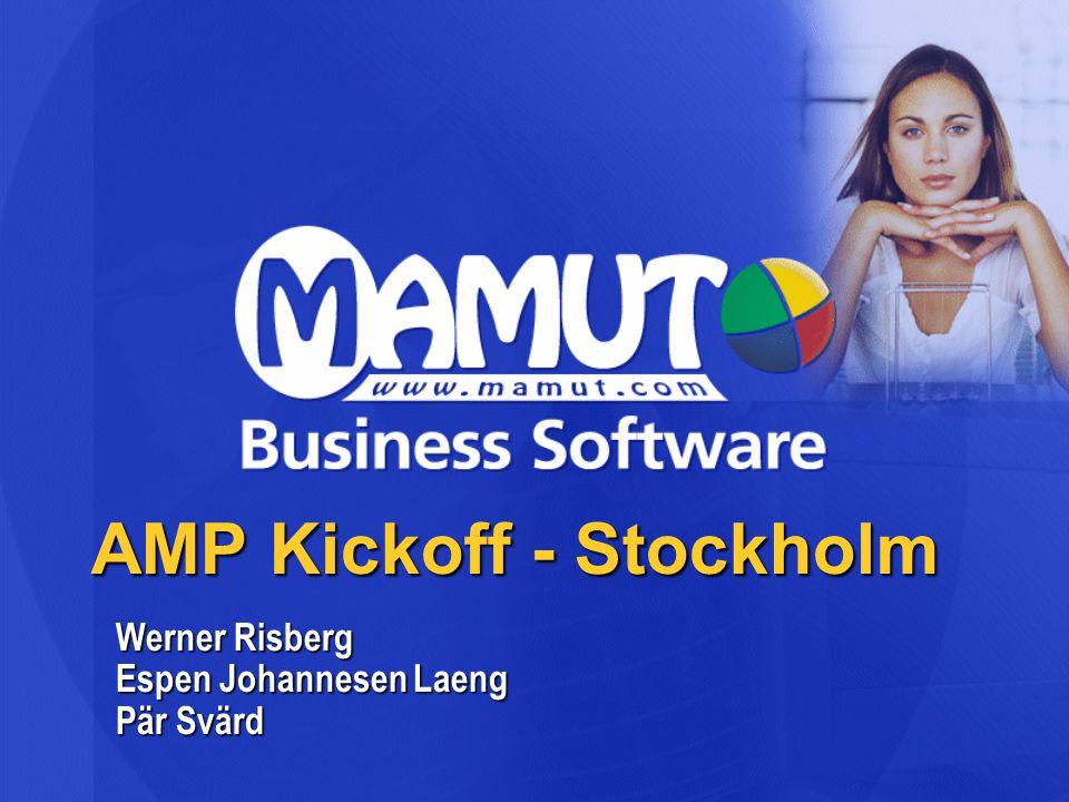 AMP Kickoff - Stockholm