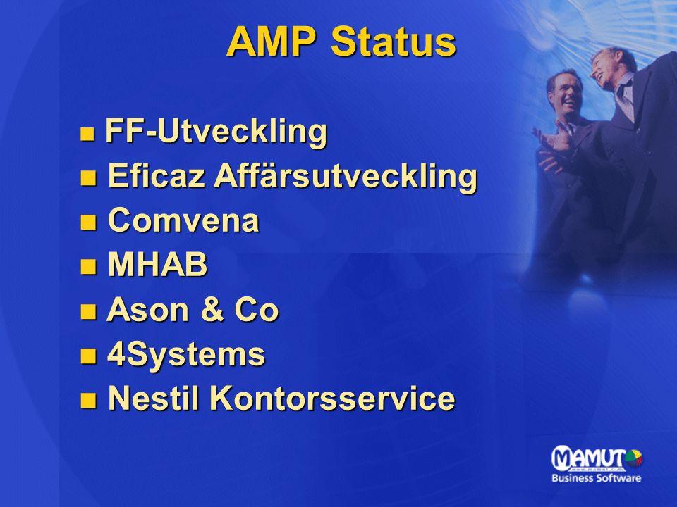AMP Status Eficaz Affärsutveckling Comvena MHAB Ason & Co 4Systems
