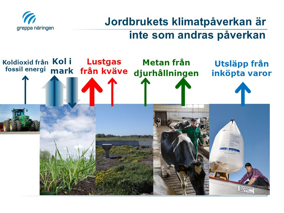 Jordbrukets klimatpåverkan är inte som andras påverkan
