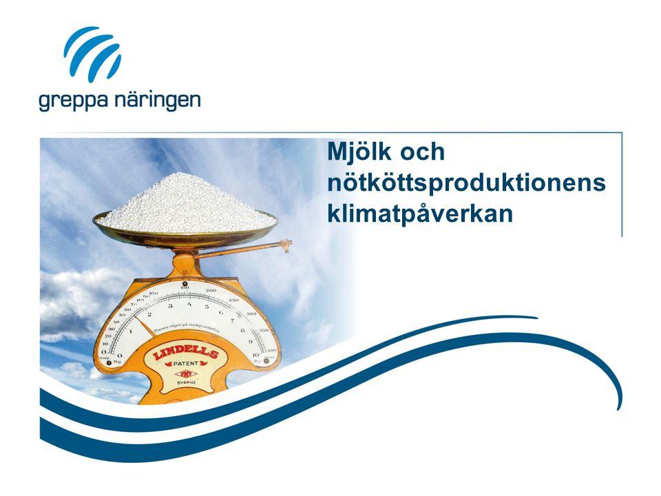 Mjölk och nötköttsproduktionens klimatpåverkan