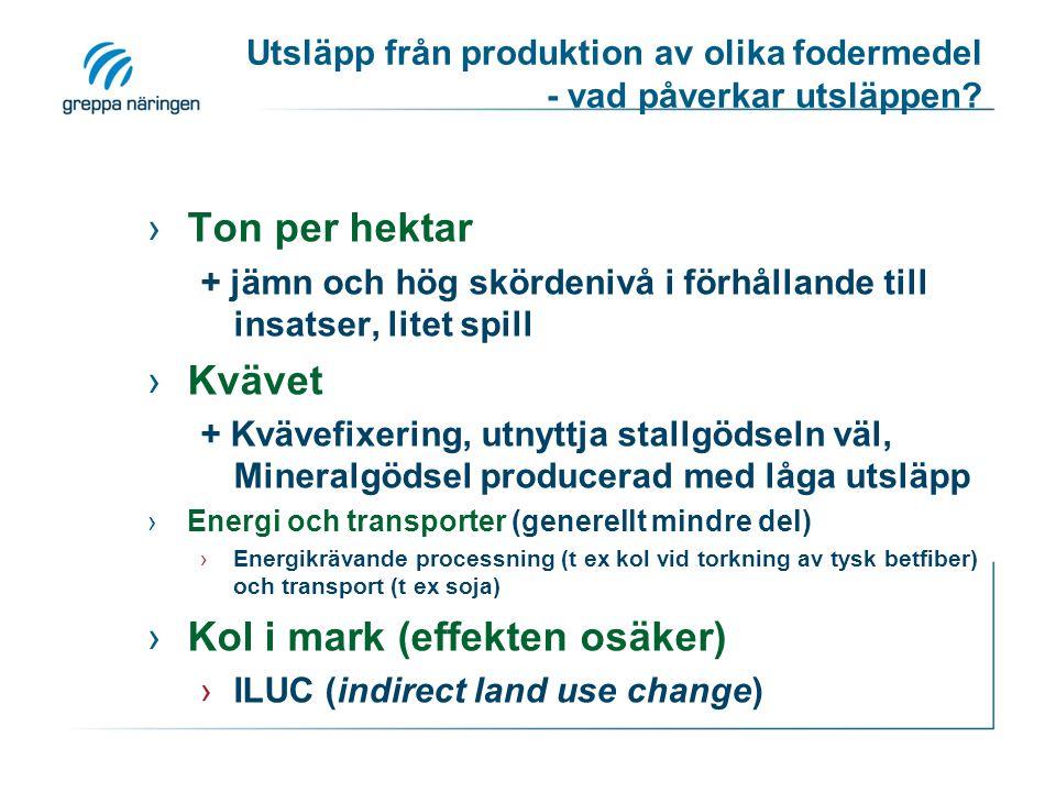Utsläpp från produktion av olika fodermedel - vad påverkar utsläppen
