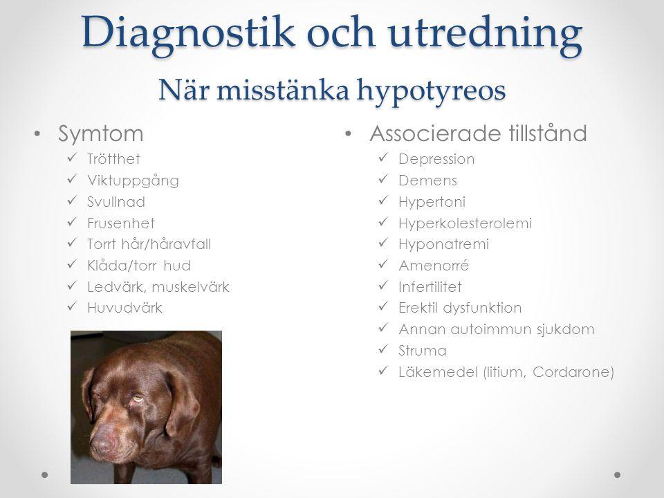 Diagnostik och utredning När misstänka hypotyreos