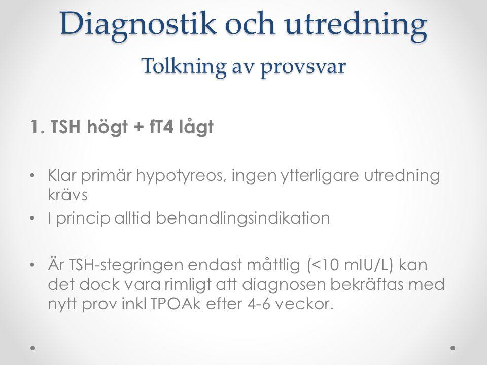 Diagnostik och utredning Tolkning av provsvar