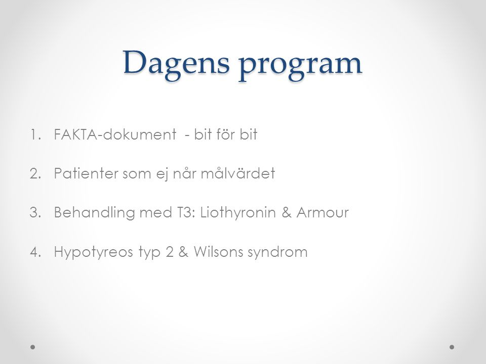 Dagens program FAKTA-dokument - bit för bit