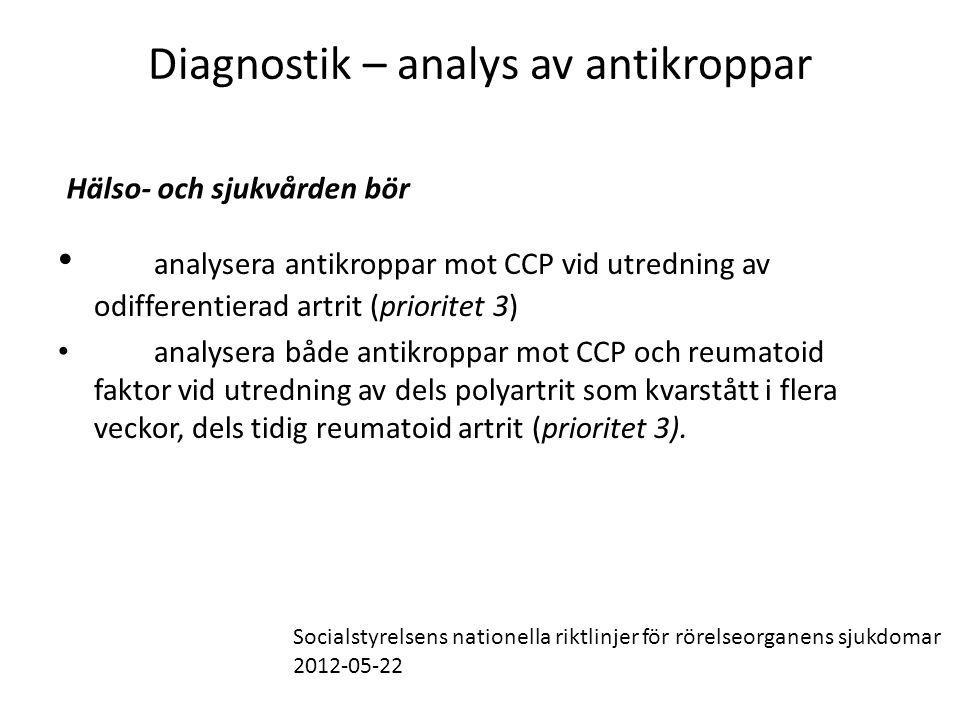 Diagnostik – analys av antikroppar