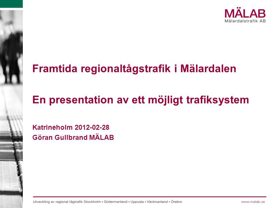 Framtida regionaltågstrafik i Mälardalen