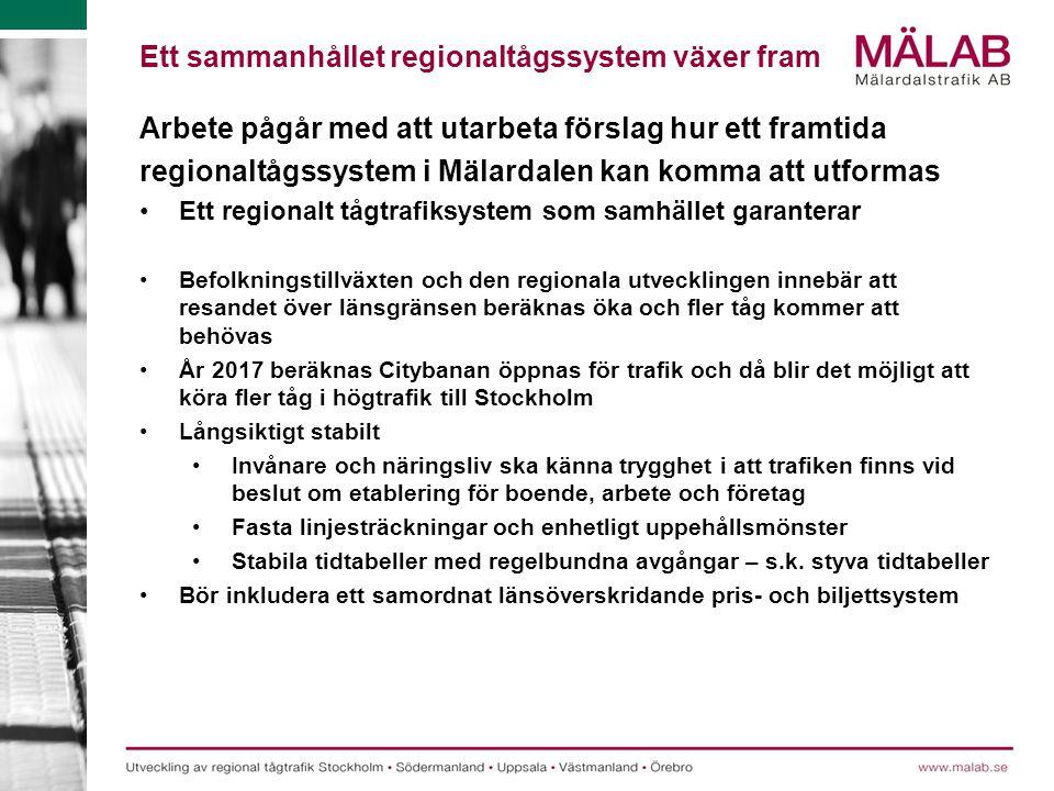 Ett sammanhållet regionaltågssystem växer fram