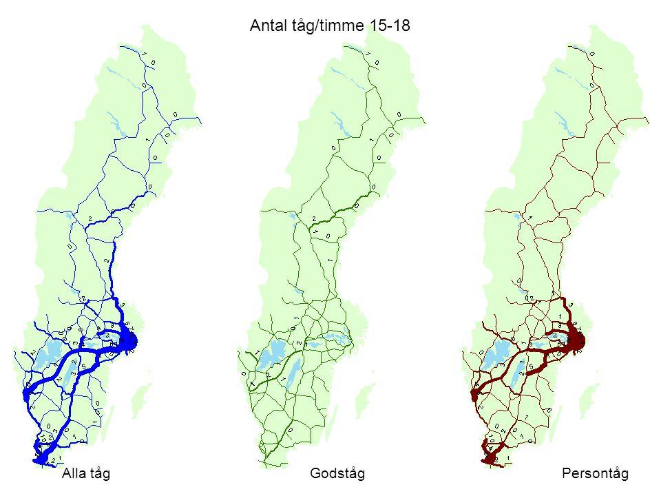 Antal tåg/timme 15-18 Alla tåg Godståg Persontåg Värden från a1d1