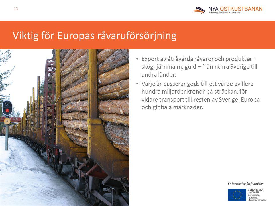 Viktig för Europas råvaruförsörjning