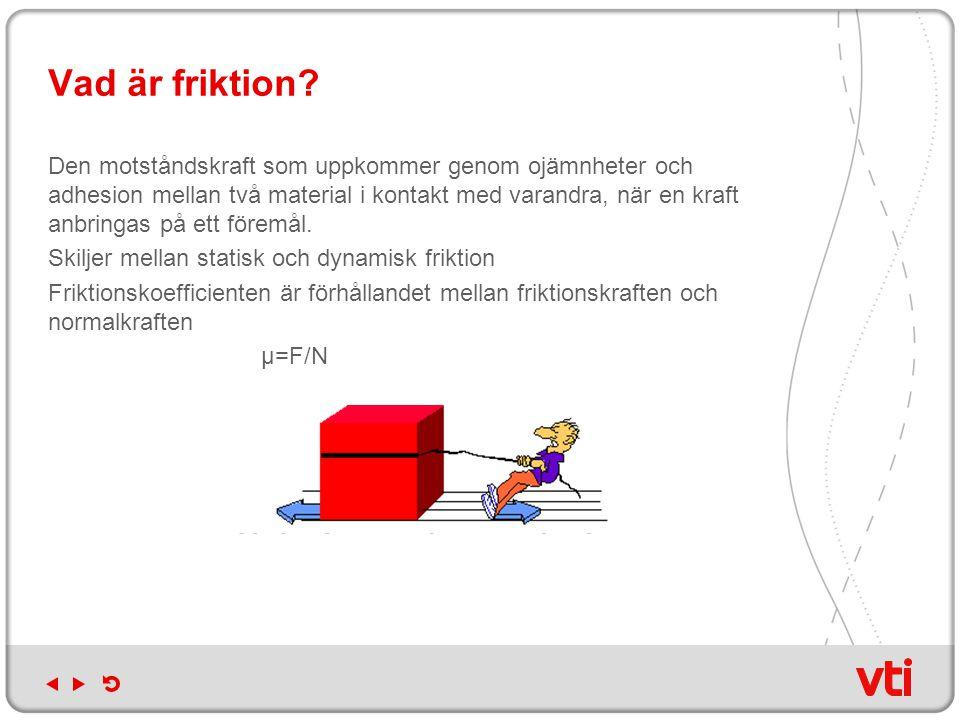 Vad är friktion
