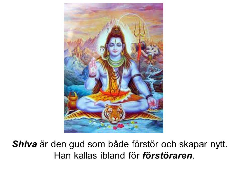 Shiva är den gud som både förstör och skapar nytt