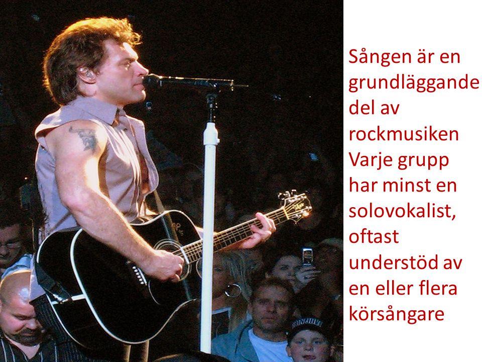 Sången är en grundläggande del av rockmusiken Varje grupp