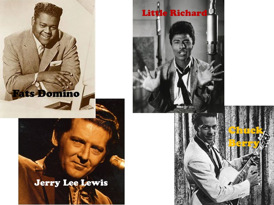 Little Richard Fats Domino Chuck Berry Jerry Lee Lewis