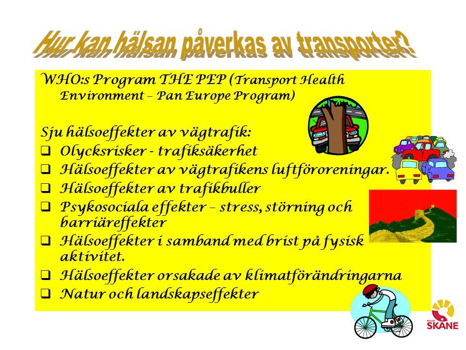 Hur kan hälsan påverkas av transporter