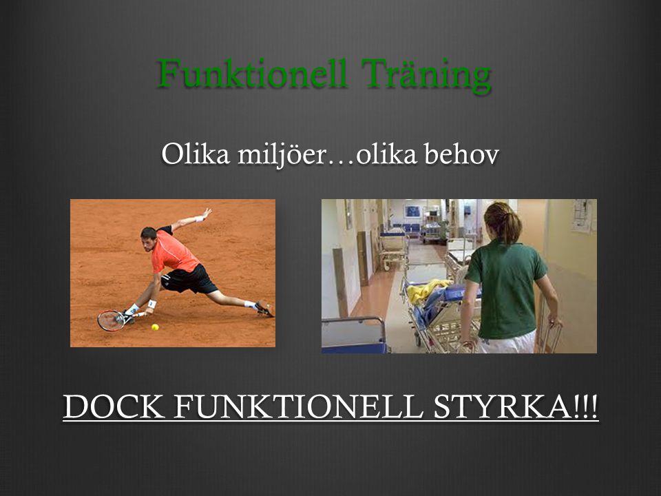 Funktionell Träning DOCK FUNKTIONELL STYRKA!!!