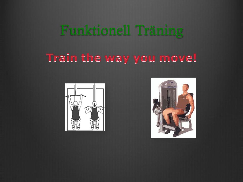 Funktionell Träning Train the way you move!