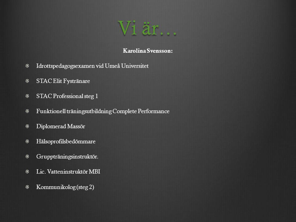 Vi är… Karolina Svensson: Idrottspedagogsexamen vid Umeå Universitet
