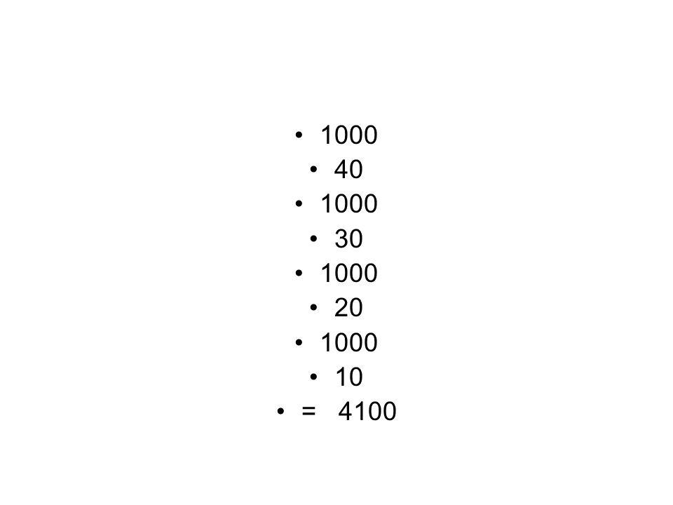 1000 40 30 20 10 = 4100