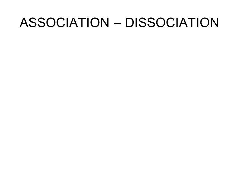 ASSOCIATION – DISSOCIATION