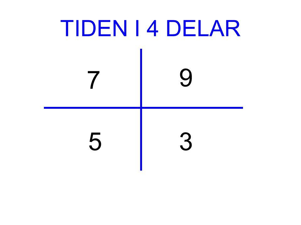TIDEN I 4 DELAR 9 7 5 3