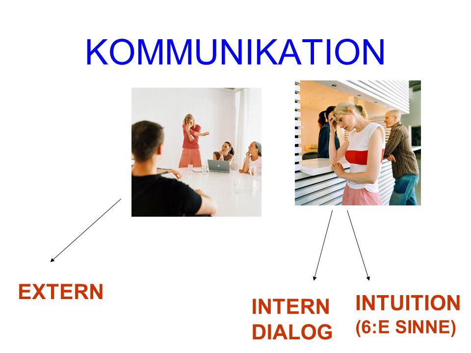 KOMMUNIKATION EXTERN INTUITION (6:E SINNE) INTERN DIALOG