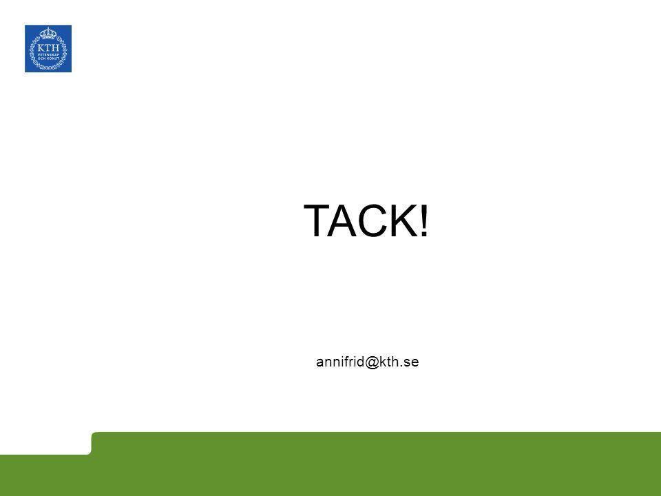 TACK! annifrid@kth.se