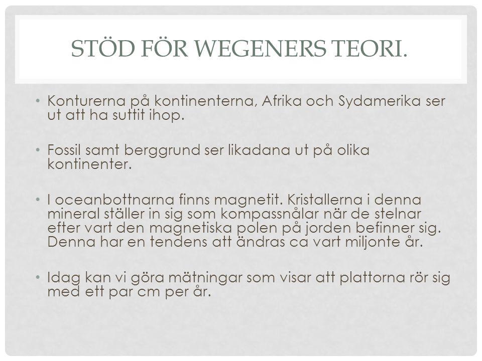 Stöd för Wegeners teori.