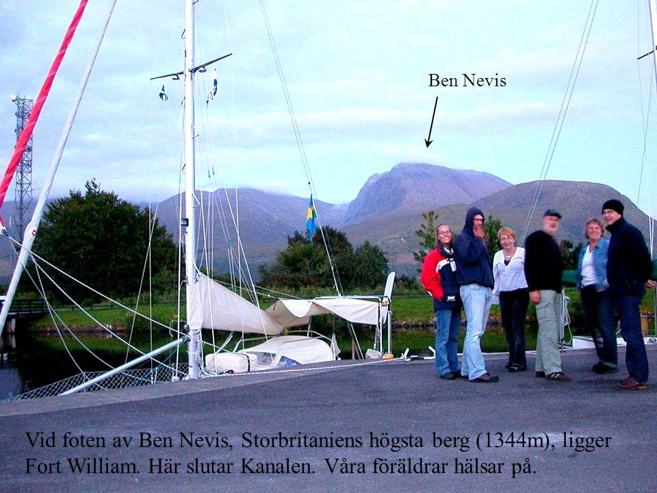 Ben Nevis Vid foten av Ben Nevis, Storbritaniens högsta berg (1344m), ligger Fort William.