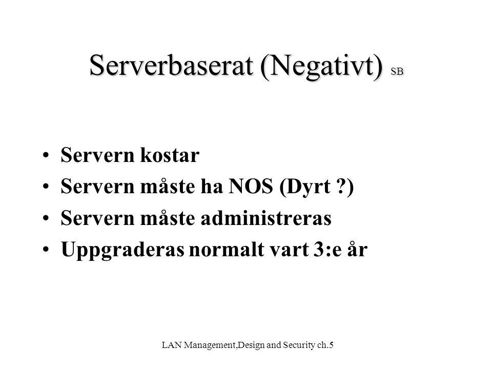 Serverbaserat (Negativt) SB