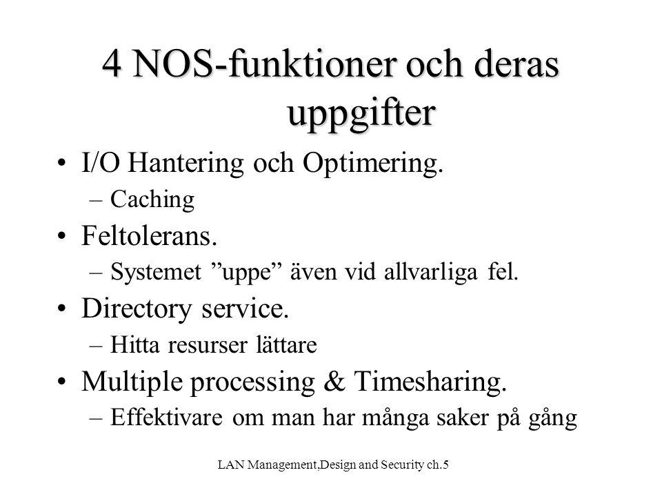4 NOS-funktioner och deras uppgifter