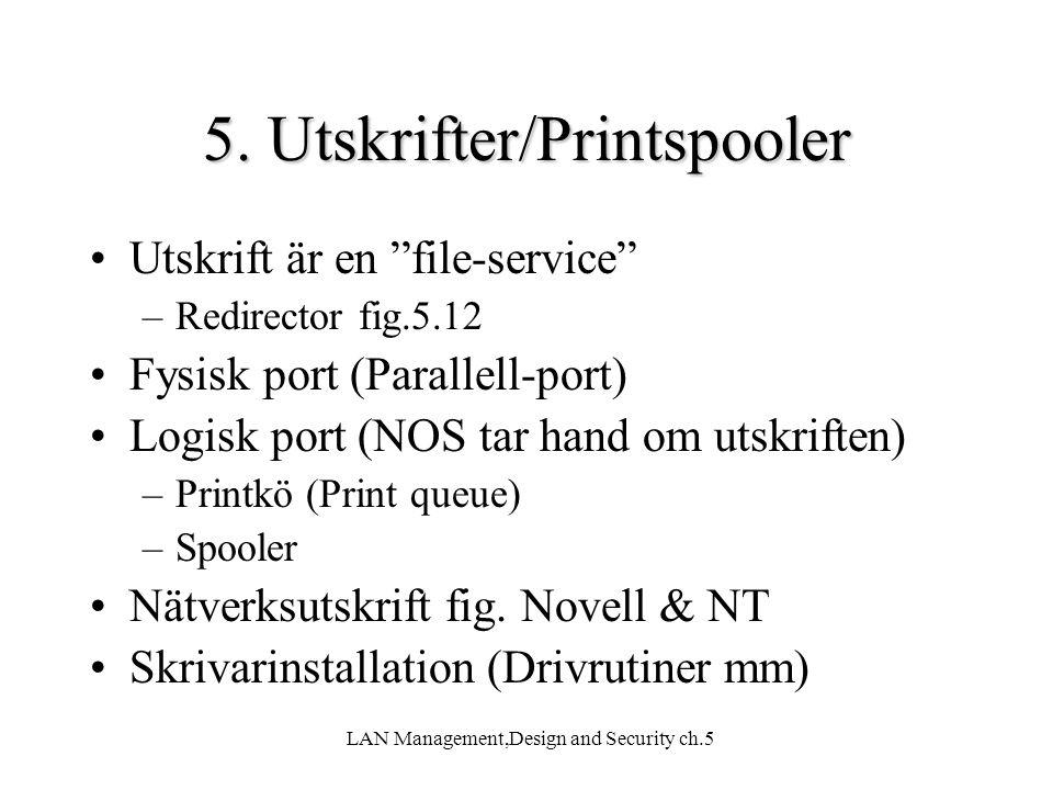 5. Utskrifter/Printspooler