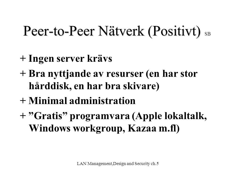 Peer-to-Peer Nätverk (Positivt) SB