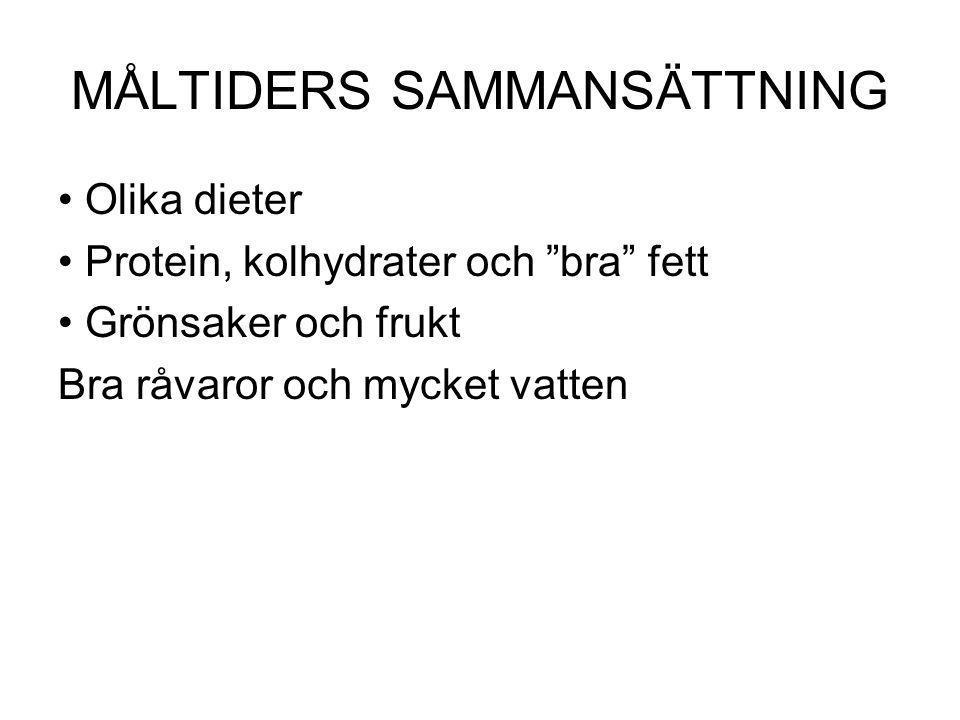 MÅLTIDERS SAMMANSÄTTNING
