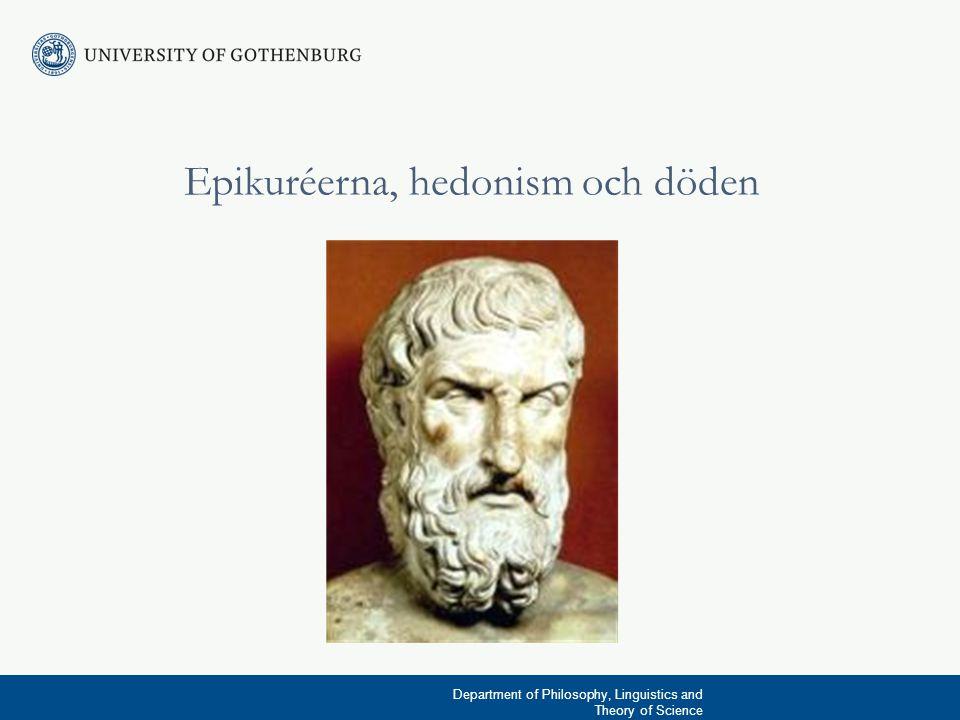 Epikuréerna, hedonism och döden