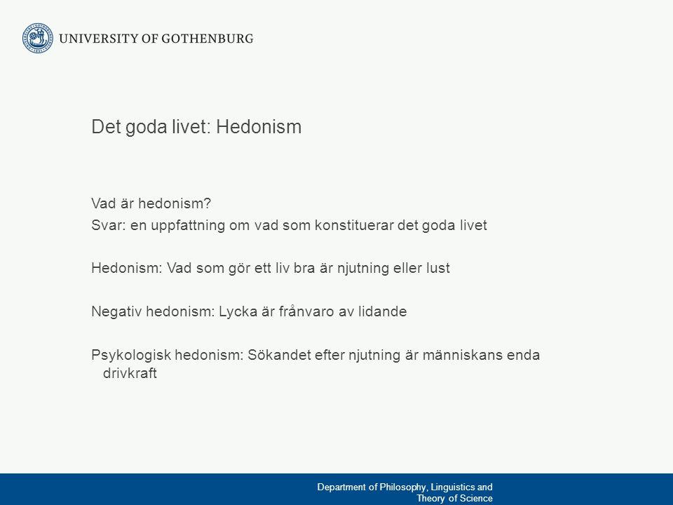 Det goda livet: Hedonism