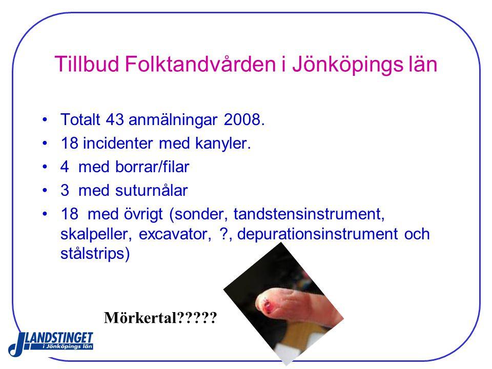 Tillbud Folktandvården i Jönköpings län