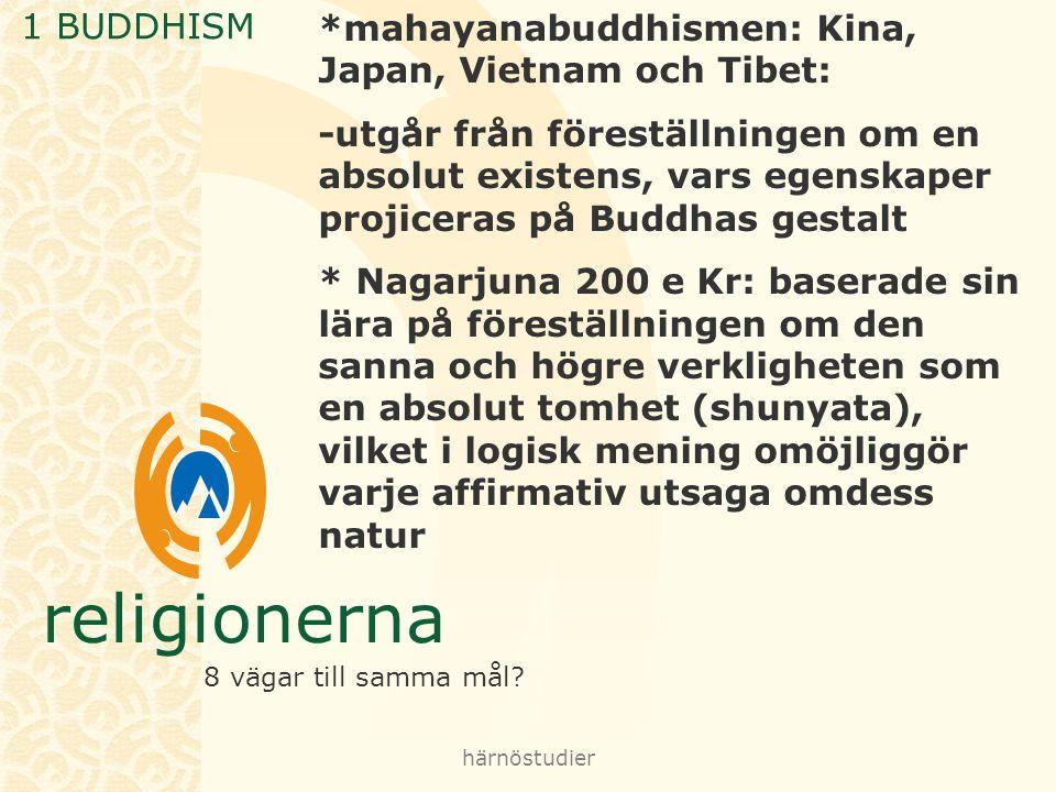 *mahayanabuddhismen: Kina, Japan, Vietnam och Tibet: