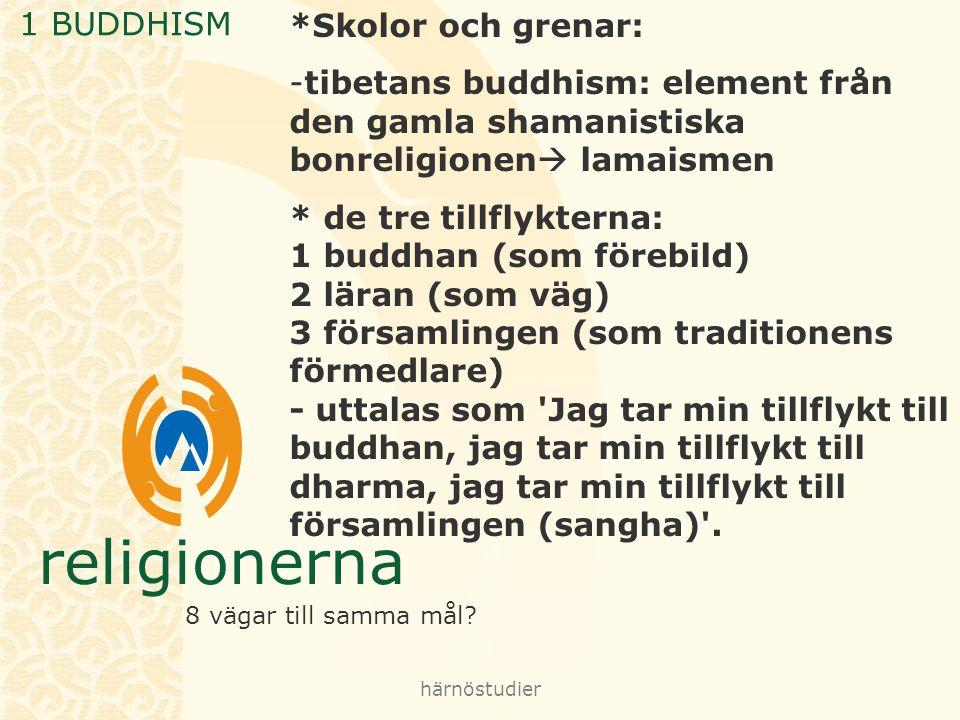 1 BUDDHISM *Skolor och grenar: