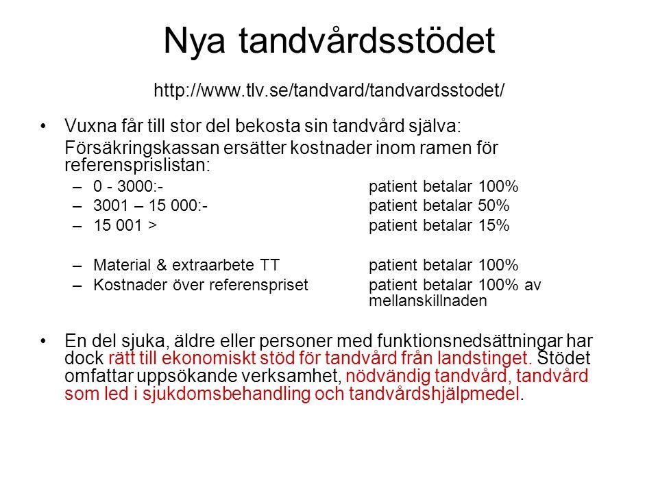 Nya tandvårdsstödet http://www.tlv.se/tandvard/tandvardsstodet/