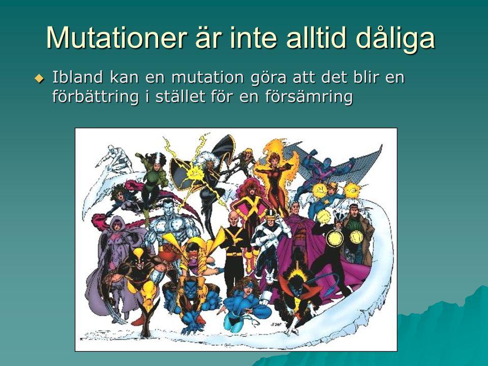 Mutationer är inte alltid dåliga
