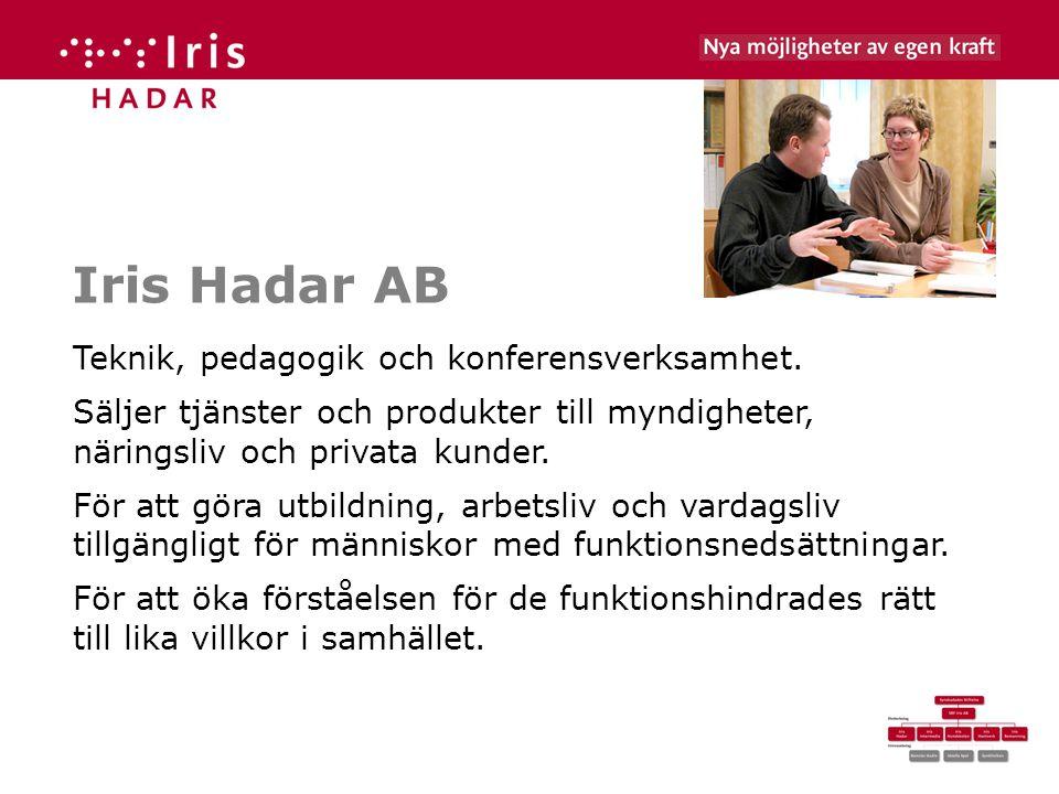 Iris Hadar AB Teknik, pedagogik och konferensverksamhet.