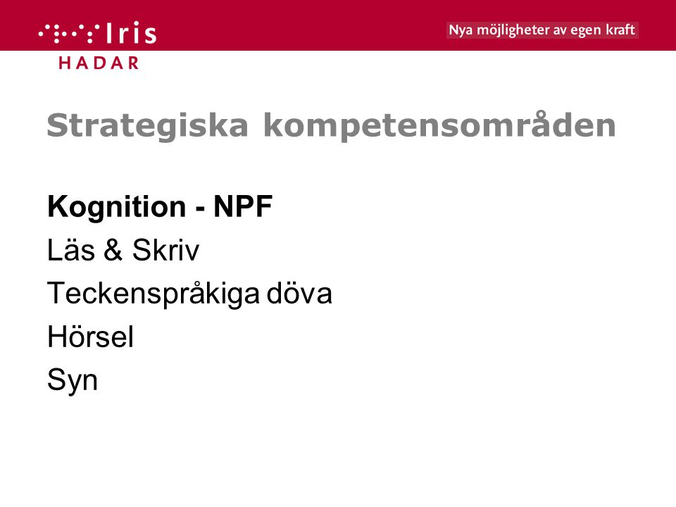 Strategiska kompetensområden