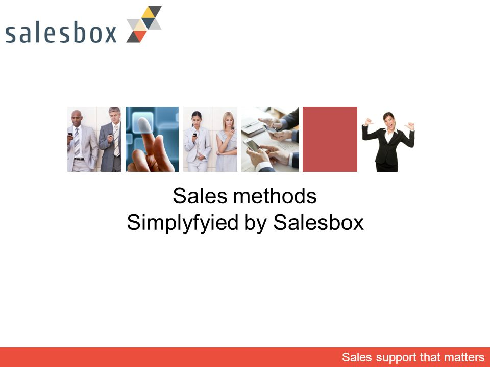 Sales methods Simplyfyied by Salesbox